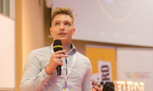 Student Michal Doubek slaví úspěch na festivalu startupů Festup